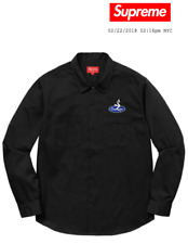 IN HAND Supreme Pin Up Work Shirt Black Sz Medium SS18 Week 1