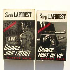 Lot de 2 fleuve noir n°606 n°633 - Serge Laforest - Gaunce joue l'atout - 1967