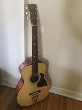 Vintage 1960s STELLA Harmony Parlor ACOUSTIC GUITAR H6128 USA Made