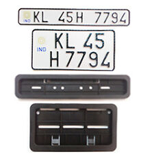 Bike IND number plates  (color --white) Front and Back  with Frames