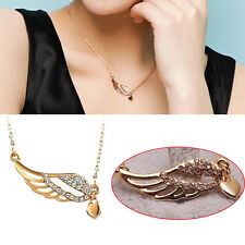 Fashion Twinkling Angel Wing With Crystal Chain Necklace Women's Jewelry Gift