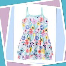 NWT Girls 5 Gymboree TROPICAL BREEZE cotton Knit SUN-DRESS Mint Floral Tiered