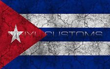 "Cuba Flag Vinyl Decal Sticker Cuban Rustic Vintage JDM - 5"" in."