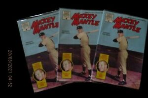 """{LOT OF 3} MICKEY MANTLE  NEW YORK YANKEES """"NEW"""" IST EDITION COMICS DEC. 1991"""