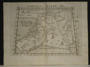 ISRAEL MIDDLE EAST CYPRUS TURKEY IRAQ 1564 PTOLEMY/RUSCELLI UNUSUAL ANTIQUE MAP