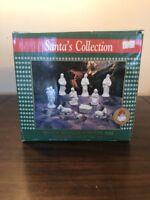 Santa's Collection 10 Piece White Bisque Porcelain Nativity Set Christmas Decor