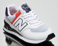 New Balance 574 Women's White Grey Ret Athletic Casual Lifestyle Sneakers Shoes