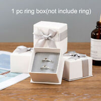1pc Jewelry Packaging Box Ring Box Ribbon Bow Gift Boxes For Jewelry Practical~