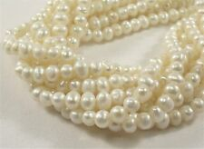 3.5-4 mm B Grade Genuine Natural White Potato Freshwater Seed Pearl Beads(#529)