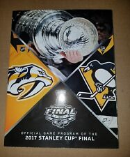 SIDNEY CROSBY PENGUINS SIGNED OFFICIAL 2017 STANLEY CUP FINALS  PROGRAM  PROOF