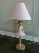 Pottery Barn Kids ballerina lamp base - with FREE lamp shade - pink ballet tutu