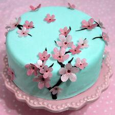 Tortendekoration Kirschbaumblüten eßbar Muffin Tortenaufleger Party Deko Blumen