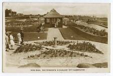 (ag65) RP of Sun Dial Waterways, North Parade, Great Yarmouth 1936 stamp removed
