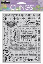 HERO ARTS CLINGS RUBBER Stamp TRUE FRIENDS CG420 FOREVER GOOD TIMES WONDERFUL
