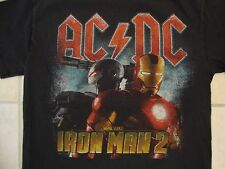 AC/DC Iron Man 2 Marvel Studios Movie Soundtrack Hard Blues Rock Black T Shirt S