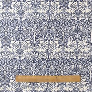William Morris Blue Brother Rabbit Heavy Floral Fabric By Half Metre