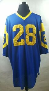 Marshall Faulk  Mitchell & Ness Throwback Jersey LA Rams Size 56