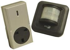 Outdoor Wireless PIR Transmitter Transmit and 13A Switching Socket Receiver