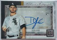 DYLAN CEASE ROOKIE 2020 TOPPS MUSEUM ARCHIVAL CARD #d/299 CHICAGO WHITE SOX AUTO