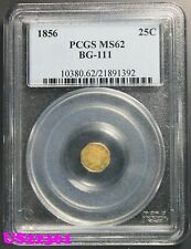 California Fractional Gold 1856 1/4 Dollar BG-111 PCGS MS-62