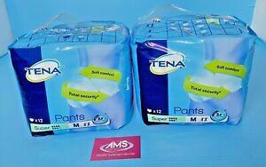 2 x 12 Packs (24 Pants) Tena Urinary Incontinence Pants / Pads / Slips