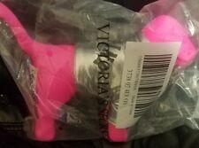 Victoria's Secret Love Pink Mini Dog Silver Puffer Bomber Winter Jacket SEALED