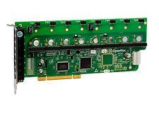 OpenVox A800P00 A800P 8 Port Analog PCI Base Card, No Modules, Ethernet (RJ45)