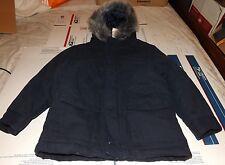 boys gymboree blue heavy hooded woodland party coat size 5-6 nwt