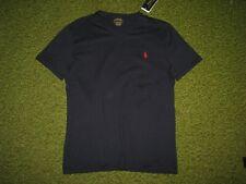 Homme (S) Polo-Ralph Lauren Bleu Marine Col V Queue de Cheval T-Shirt