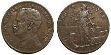 2 centesimi 1912, tracce di rigatura obliqua al contorno - R