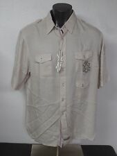 English Laundry Men's Short Sleeve Button Front Shirt 3XL Promenade Rayon New
