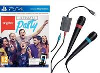 Singstar PS4 + 2 Wired Microphones - MINT - Super FAST Delivery FREE