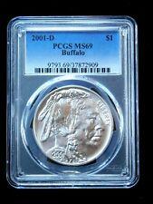 New listing 2001-D $1 Buffalo Silver Dollar - Pcgs Ms69