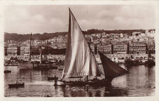 Algeria Alger panorama photo postcard siling boat