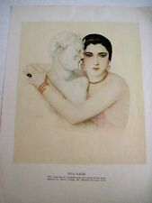 "Vintage Print by Albert Vargas, Peruvian Artist, Titled ""Nita Naldi"" *"