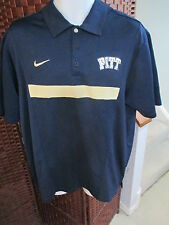 Nike Dri-Fit Pitt Panthers Polo Shirt Mens Large NCAA Pittsburgh Golf Shirt