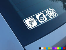 FORD PLUS BOOST EQUALS SMILES CAR STICKER FUNNY DECAL TURBO FOCUS FIESTA ST RS