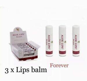 3 X Forever Living Original Aloe Vera Lip Balm Sticks With Jojoba Sealed Pack