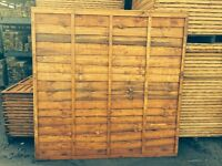Wooden Fence Panel/larch lap waney