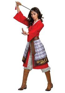 Women's Disney Deluxe Mulan Red Hero Warrior Costume SIZE S (Used)