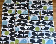 Orla Kiely Early Bird bundle 32 small pieces off cuts remnants cotton fabric