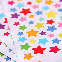 6 Sheets/set Paper Dots Stars Sticker Heart Stickers Toys Student Children Kids