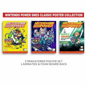 Super Mario Bros, Nintendo Power Posters (3) 8.5x11 PAX West Laminated+FoamBoard