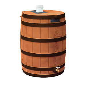 Good Ideas Rain Wizard 50 Gallon Rain Barrel Water Collector, Terra Cotta