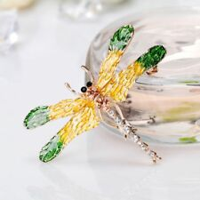 Vintage Rhinestone Dragonfly Insect Brooch Pins Women Jewelry Bridal Accessories