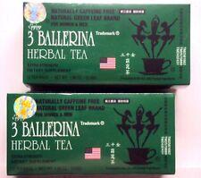 Lot 2 Box 18 Tea Bag Each Diet Tea Men/Women Drink Extra Strength, 3 Ballerina