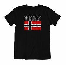 Flag T-Shirt Norway Fashion Country Souvenir Gift Tee Pride logo