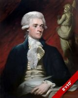US FOUNDING FATHER & PRESIDENT THOMAS JEFFERSON PAINTING ART REAL CANVAS PRINT