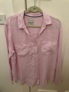 Hut Pink Boyfriend Linen Shirt