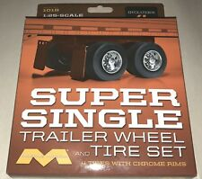 Moebius Super Single Trailer wheel and tire set for model kit 1/25 scale 1018